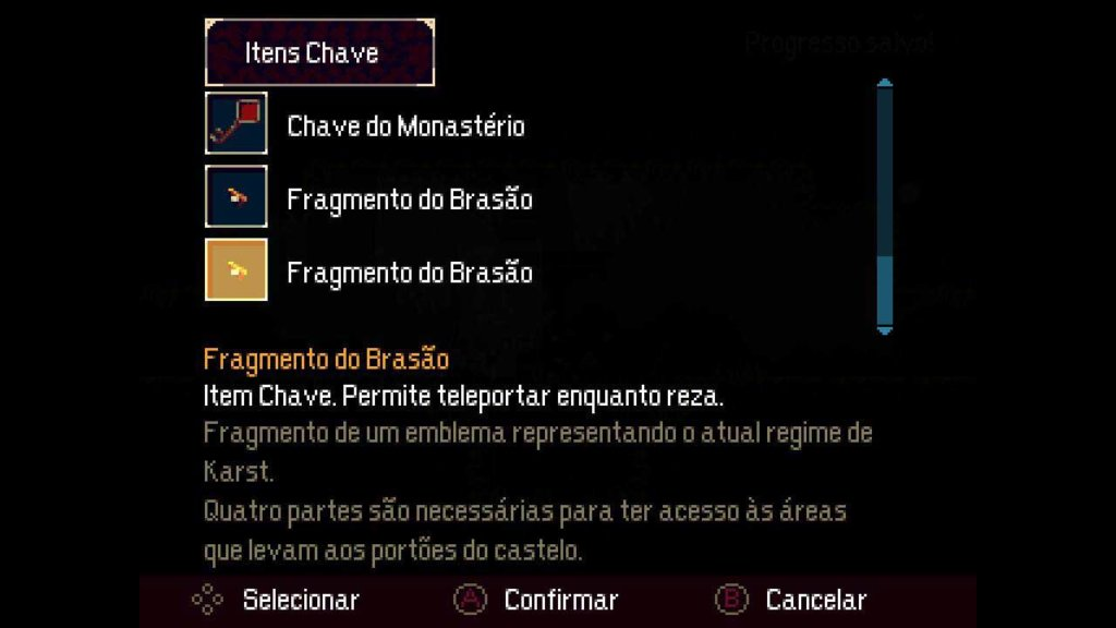 Itens chave